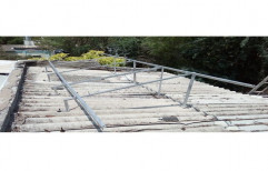 Mild Steel Cement Mounting Structure by Sunloop Energy