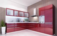 Stylish Modular Kitchen by Green Leaf Modular Interiors