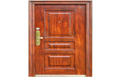 Brown Pine Wood Door by Shrinath Furniture Suppliers