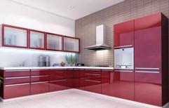 L Shaped Modular Kitchen by Space Interior Developer