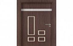 Brown Moulded Panel Wooden Door