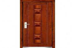 Brown Exterior DD-M38 Wooden Membrane Door, Door Width: 3 - 4 Feet, Door Height: 7 - 8 Feet
