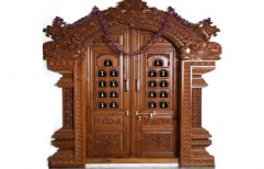 Royal Look Wooden door with metal decoration   by Hometown World