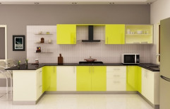U Shaped Modular Kitchen by MRK Furniture