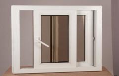 UPVS Golden Oak Color Sliding Windows     by Anihc Building Materials
