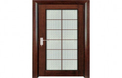 Wooden Door with glass by Swastik Ply & Laminate