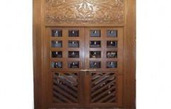 Wooden Front Door by Lotus & Co