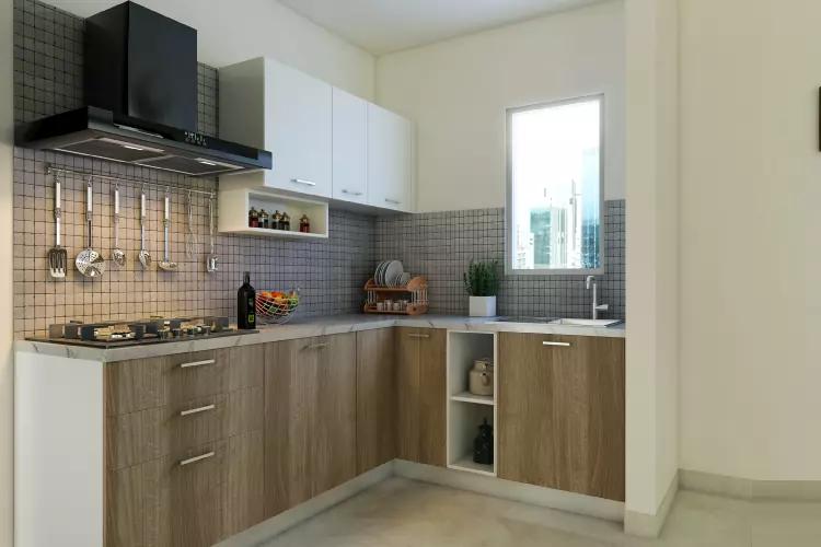 Wooden Modular Kitchen by Shree Shyam Kitchen Gallery