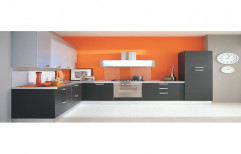 L Shaped Modular Kitchen by Megha Marketing