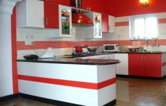 PVC Residential Modular Kitchen, Kitchen Cabinets