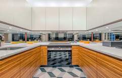 U-Shaped Modular Kitchen by Home Theme Interior Solutions
