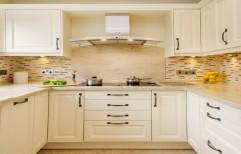 U-Shaped Modular Kitchen by Polite Interiors