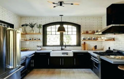 U-Shaped Modular Kitchen by RS Interior