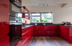 U Shaped Modular Kitchen by V J Interior
