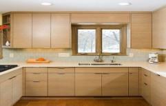 U Shaped Modular Kitchen by Zebra Interior