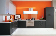 Wooden Modular Kitchen by Akshaya Wood Interiors