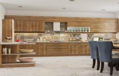 Wooden Modular Kitchen by Hemant Interiors (A Unit Of Hemant UPVC Doors & Windows)