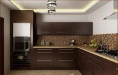 Wooden Modular Kitchen by PMR Ceramics