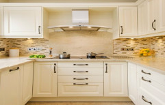 Wooden Modular Kitchen by Qfab Engineering & Design Solutions