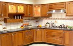 Wooden Modular Kitchen by Sunrise Kitchen Decor