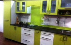 Straight Modular Kitchen by Touchwood Interior