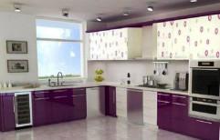 Wooden Modular Kitchen by Krisshna Interiorss