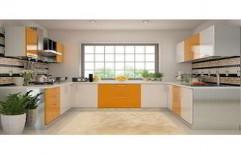 U Shaped Modular Kitchen by R K Interior