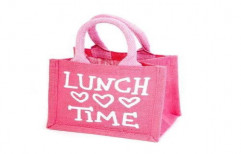 Jute Lunch Bag by Jeevika Creations