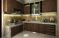 L Shape Modular Kitchen by My3 Interior Designer