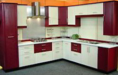 V Shaped Modular Kitchen by Hema Kitchen & Furniture