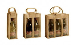 Window Bottle Wine Bag by Techno Jute Products Private Limited