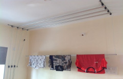 Cloth Drying Ceiling Pulley System(9 feet 4 Pipes) by Rizen Healthcare