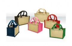 Plain Jute Lunch Bag by Saj Enterprise