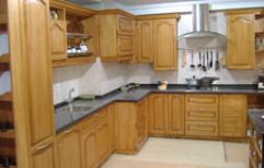 Wooden Modular Kitchen by MK Interials