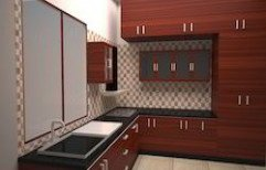 Wooden Modular Kitchen by Q Rich Interior
