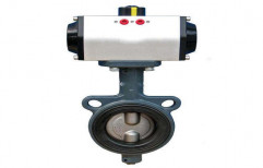Butterfly Valve with Pneumatic Rotary Actuator by Hindustan Hydraulics & Pneumatics