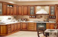 Wooden Modular Kitchen by Alstona Interiors & Furnitures