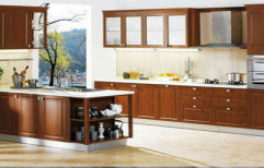 Solid Wood Modular Kitchen by Oscar Decors