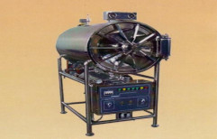 SS Horizontal Cylindrical Autoclave by Shamboo Scientific Glass Works