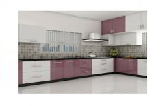 High Gloss Modular Kitchen by Koushika Interiors