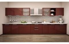 Straight Modular Kitchen by Spider Creative Interiors