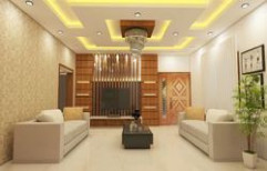 Living Hall Design by Q Rich Interior