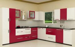 L Shape Modular Kitchen by Amar Safe Company