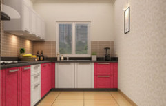 L Shaped Modular Kitchen by Moon Light Construction & Interior