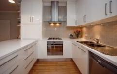 U Shaped Modular Kitchen by Sree Om Wood & Frame Works