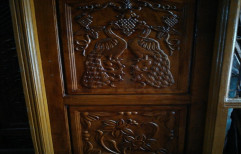 Wood Door by Palm Wood
