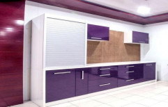 Straight Laminated PVC Modular Kitchen by ASR Enterprises