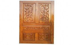Teak Wood Carving Door by Sri Laxmi Narayana Interiors