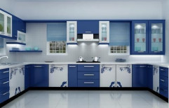 U Shaped Modular Kitchen by SAF Engineering & Contracting