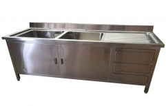 Stainless Steel Plate Wash Basin by Srinivasa